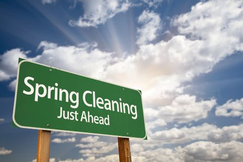Spring Cleaning text on Road Sign