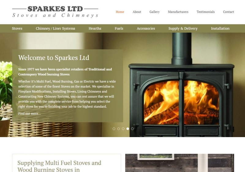 Banner images featuring different stoves in luxurious room settings.