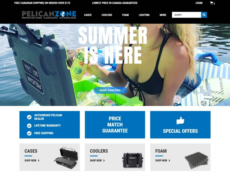 Summer has arrived on the Pelican Zone landing page