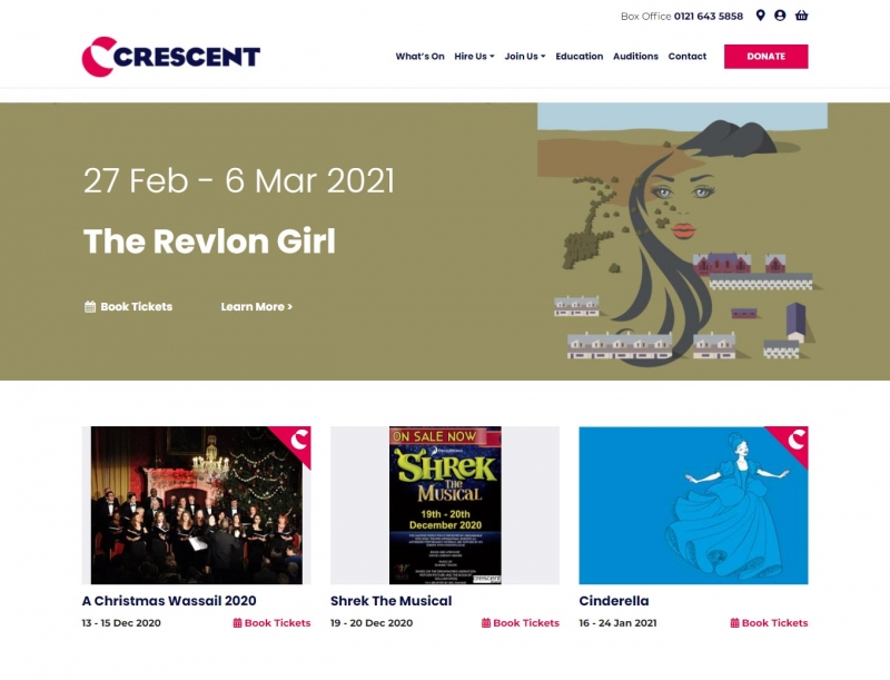The Revlon Girl show advertised on Crescent website