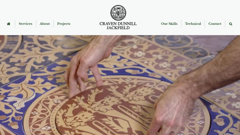 Beautiful hand painted porcelain tiles on home page