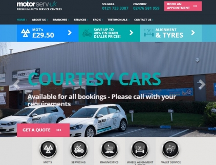 Motorserv-UK Website Screenshot