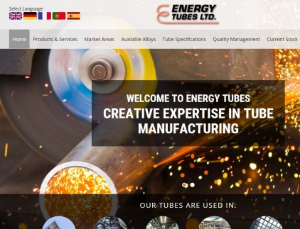 Energy Tubes Website Screenshot