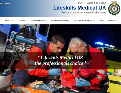 Lifeskills Medical Website Screenshot