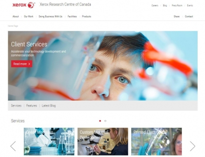 Xerox Research Centre Website Screenshot