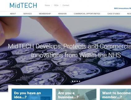 MidTECH Website Screenshot