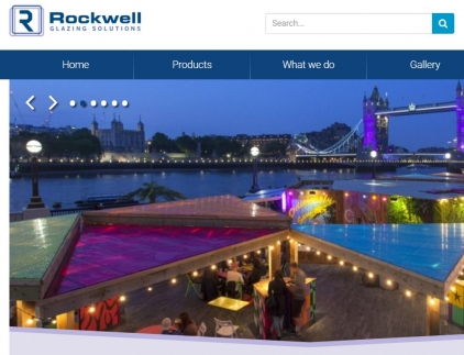 Rockwell Glazing Website Screenshot