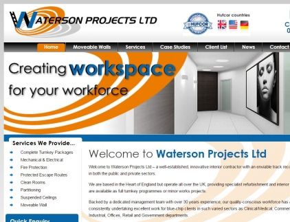 Watersons Projects Website Screenshot