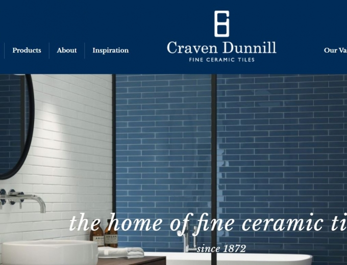Home page of Craven Dunnill web design.