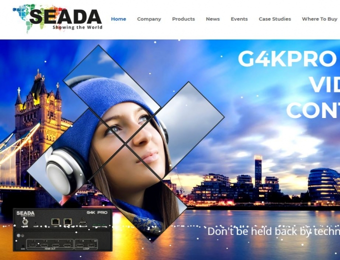 Highly graphical SEADA web design home page