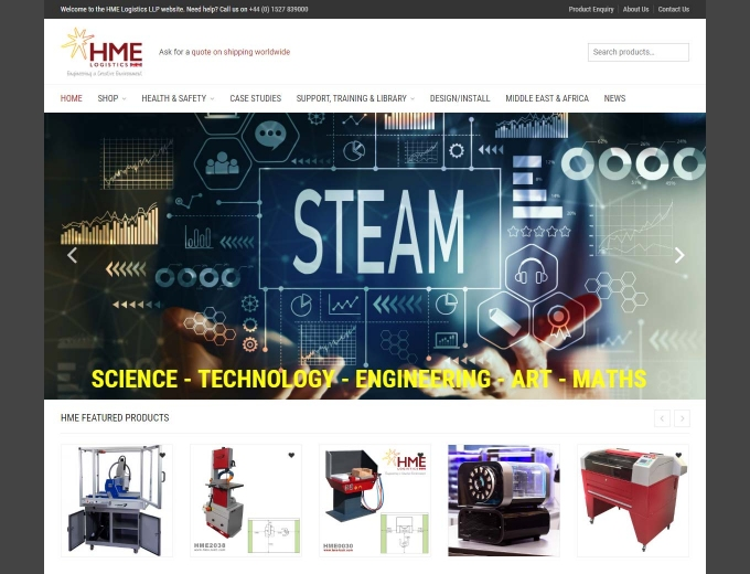 Steam scientific products on the HMD website home page
